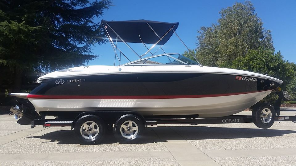 huge cobalt luxury boat detailed by detail pros in yuba city